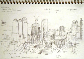 October, 2010 planning sketch I made sitting on the hotel's patio.
