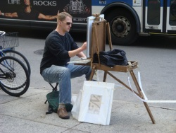 En Plein Air on a NYC sidewalk